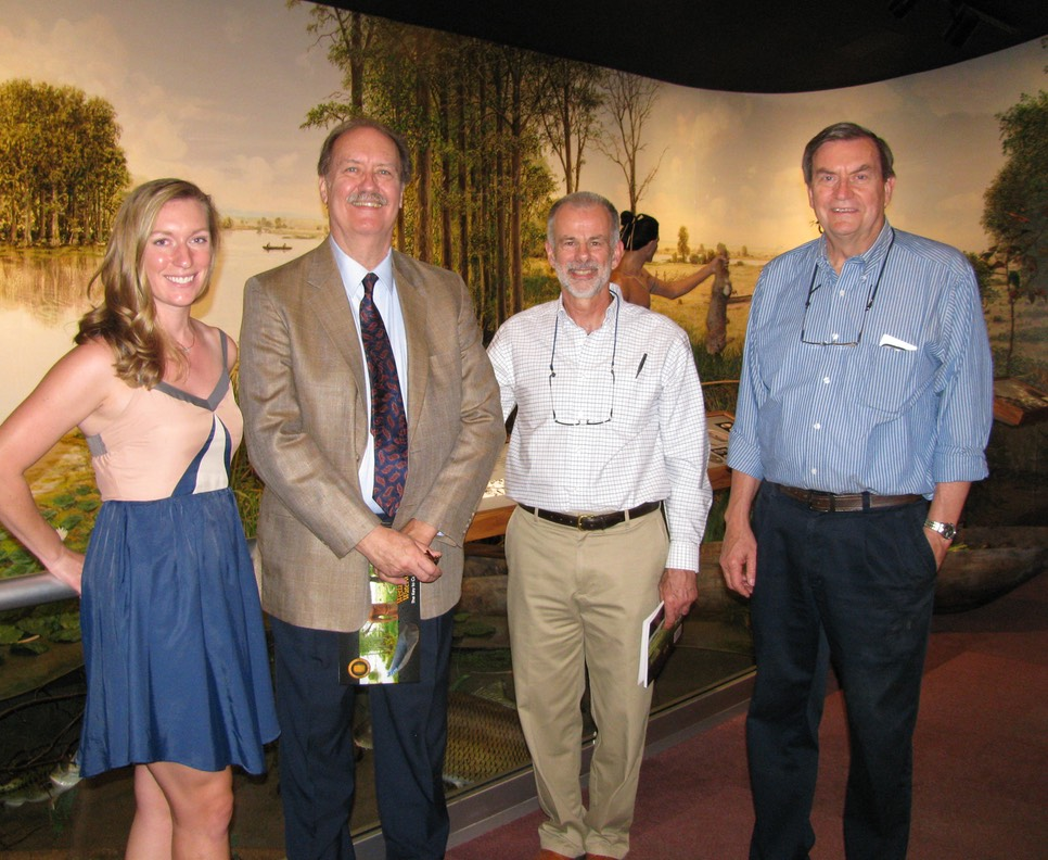 Exhibit team members Molly Wawryzniak, Gary Harmon, Rick Riccio, and Bill Iseminger